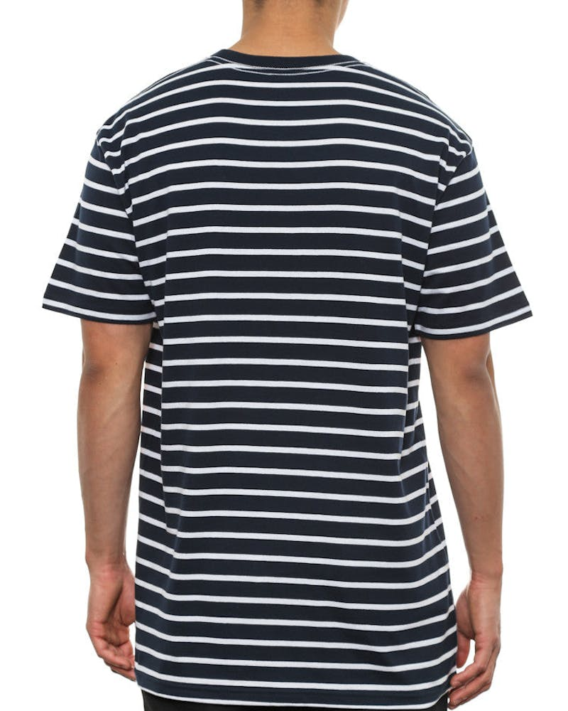 Staple Stripe Tee Navy/white