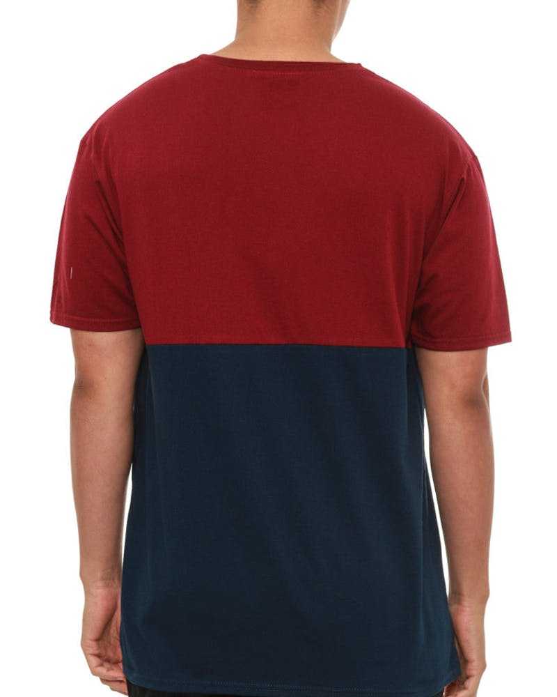Multi Tee Burgundy/navy