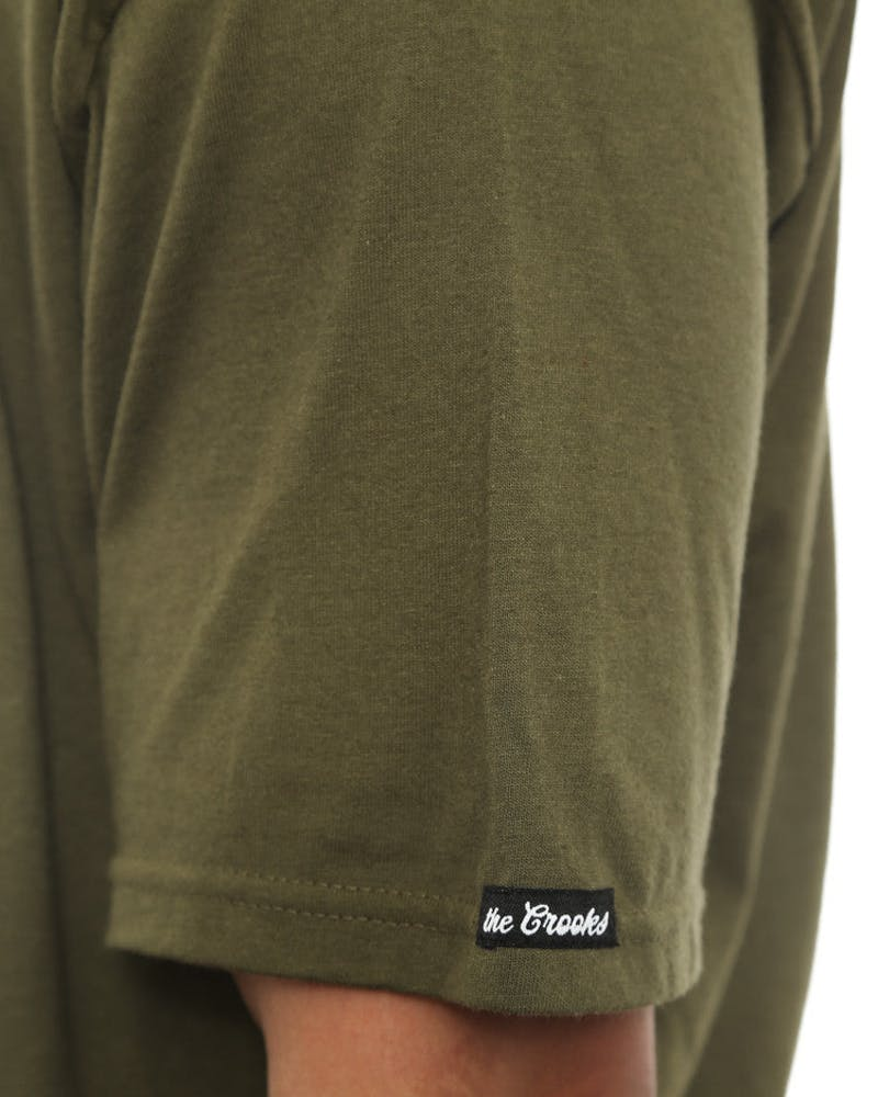 Bandito Shield Tee Olive/brown