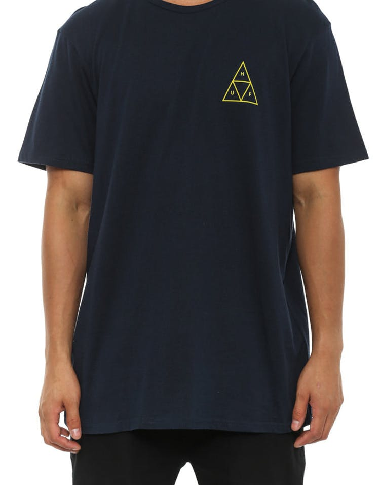Triple Triangle Tee H14 Navy/yellow
