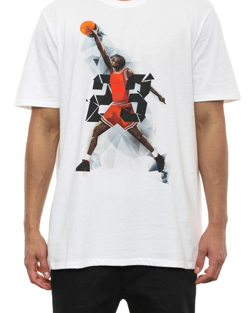 AJ IX West Madison ST Tee White/black