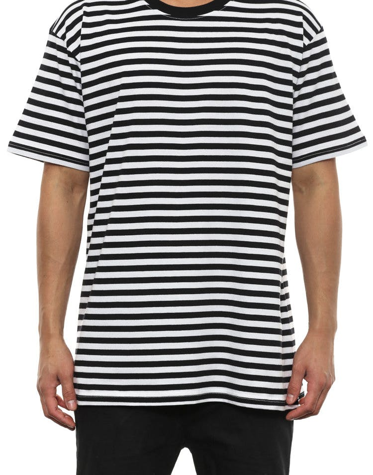Staple Stripe Tee Black/white