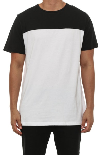 Block Colour Tee Black/white