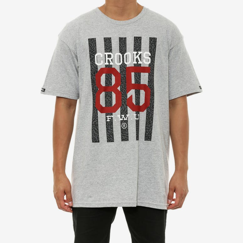 Crooks 85 Tee Heather Grey