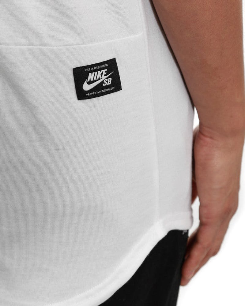 Dri-fit Blocked Pocket Tee White/light Gre