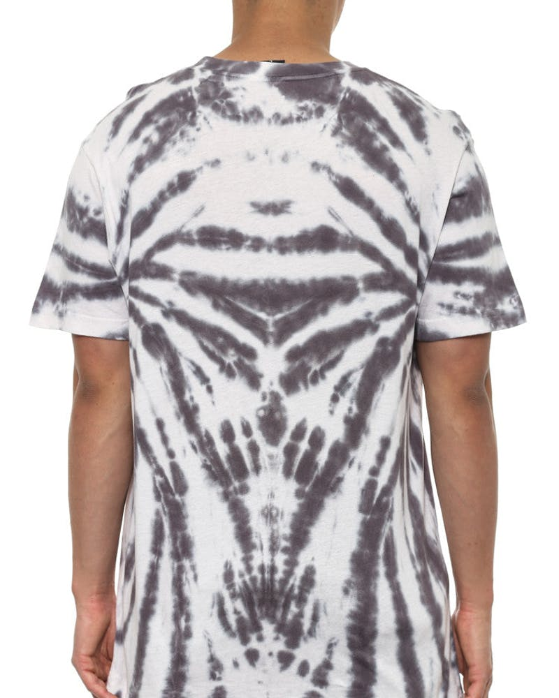Psyched Tie Dye Tee White/charcoal