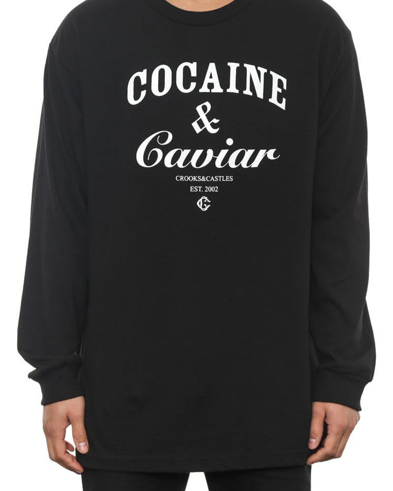 Cocaine & Caviar Long Sleeve Tee Black/white