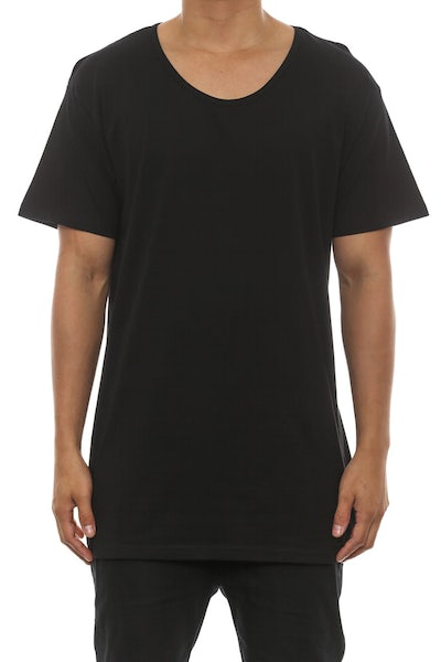 AS Colour Scoop Neck Tee Black