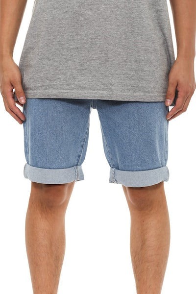 Leaner Shorts Ss15 Light Indigo