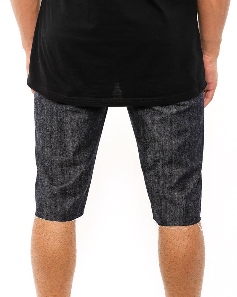 Cut Off Slim Short Indigo