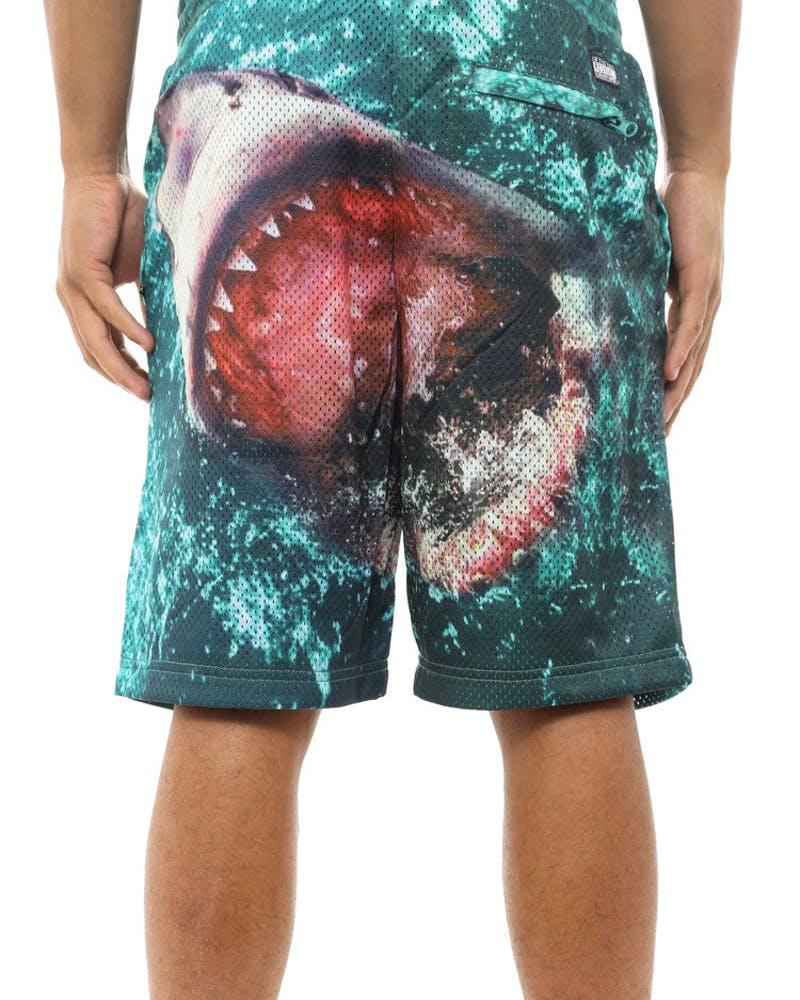 Great White Mesh Short Turquoise