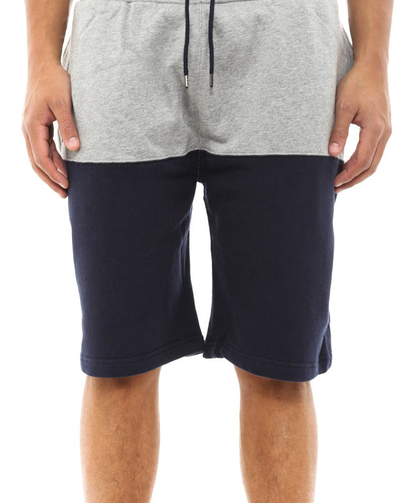 Split Sweatshort Grey/navy