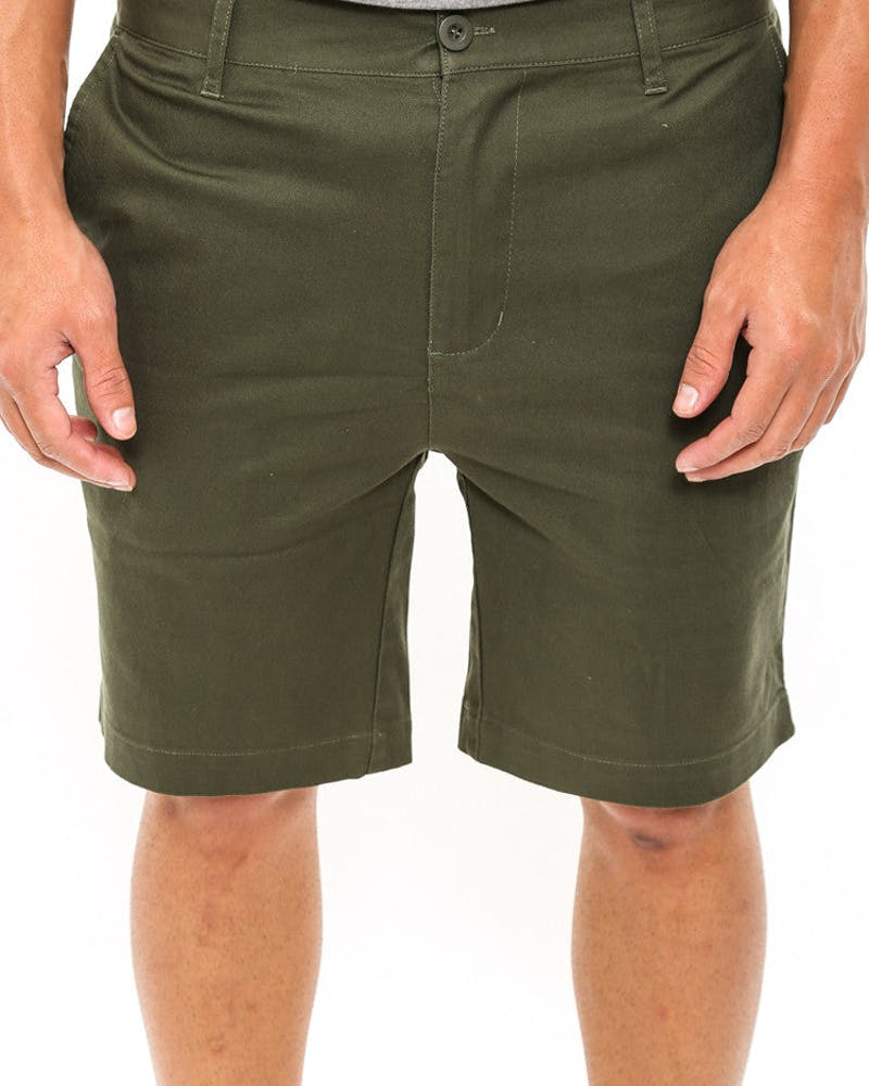 Chino Short Army Green/brow