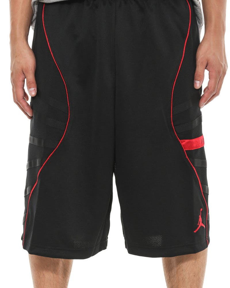 AJ XI Short Black/red/red