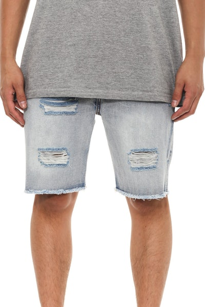 Lean Distressed Short Indigo