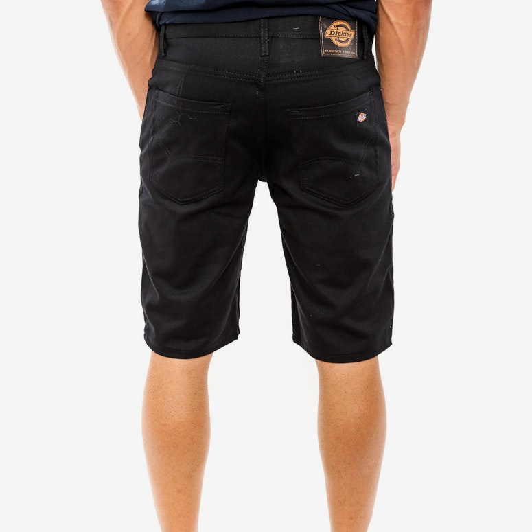 Slim Fit 5pkt Twill Short Black