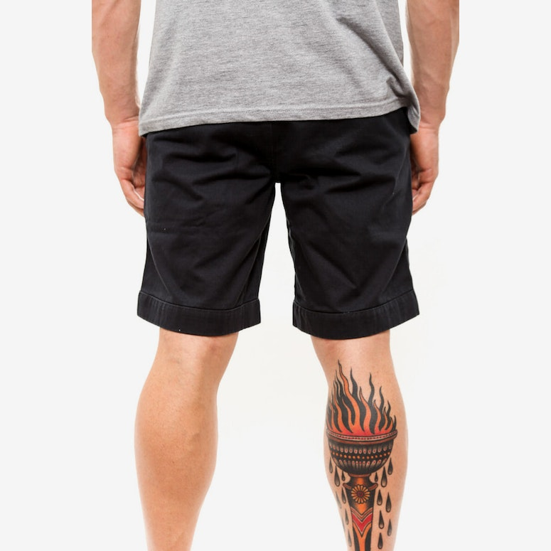 Ramsden Rolled Cuff Short Black