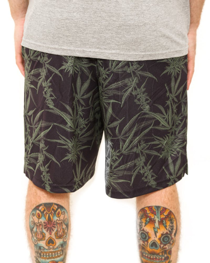 Weed Shorts Black/green