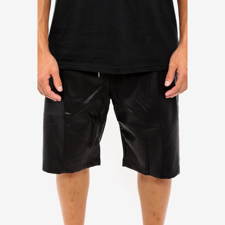 Leather Jogging Short Black