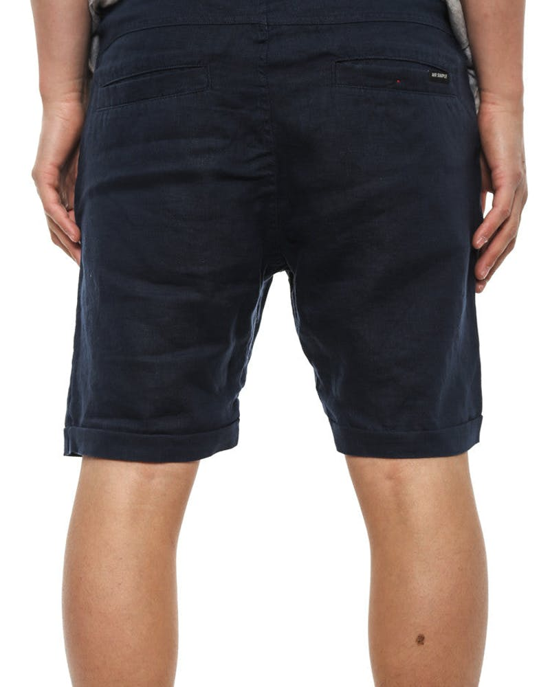 Tanner Short Navy/yellow/ora