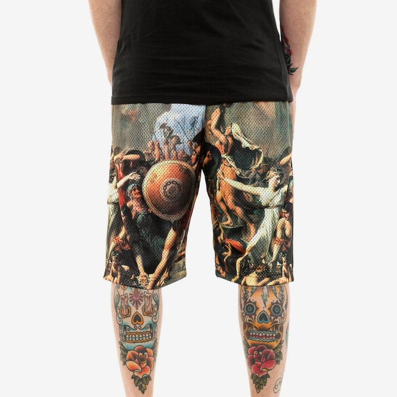 Pillage Basketball Shorts Orange/tan/blac