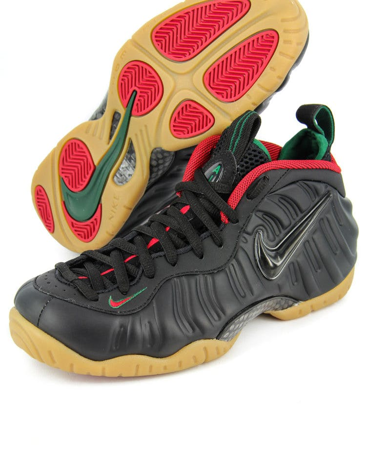 Air Foamposite Pro Black/red/green