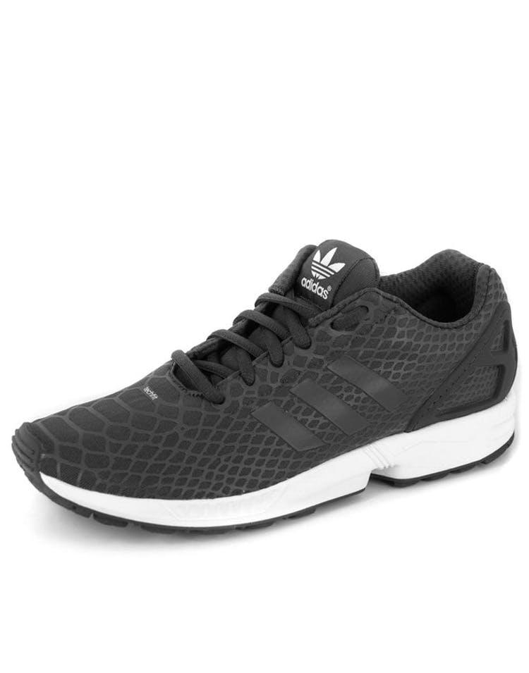 san francisco c8460 8d3cb Adidas Originals ZX Flux Techfit Black white – Culture Kings