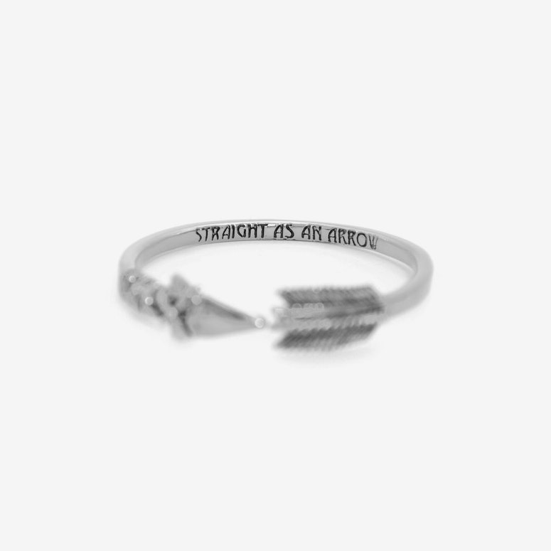 Arrow Bangle Silver/black