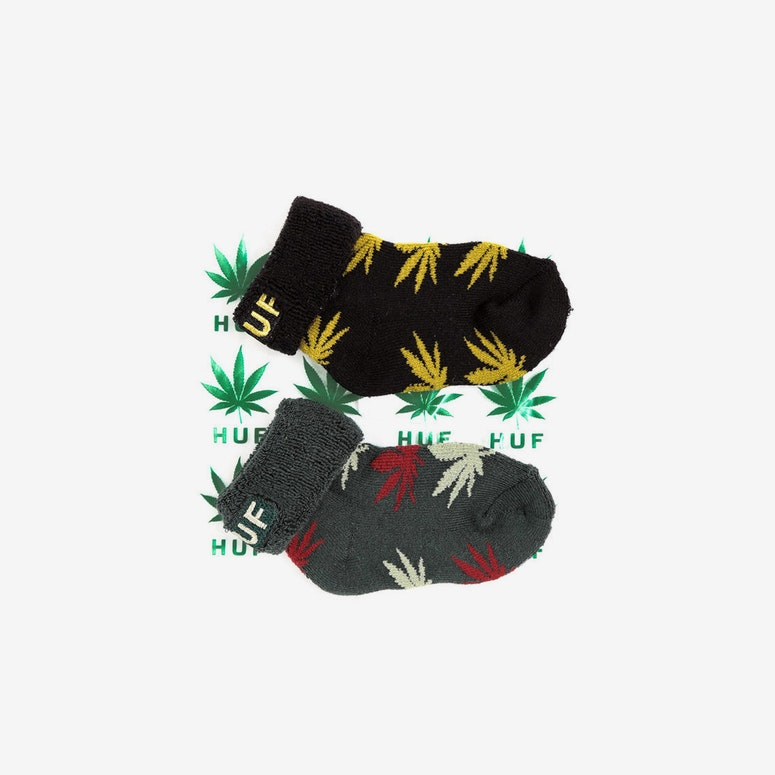 Seeds Socks 2pack Black/yellow/fo