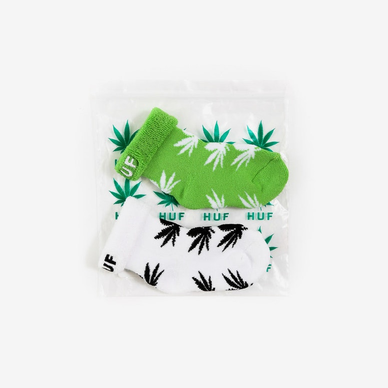 Seeds Socks 2pack White/green