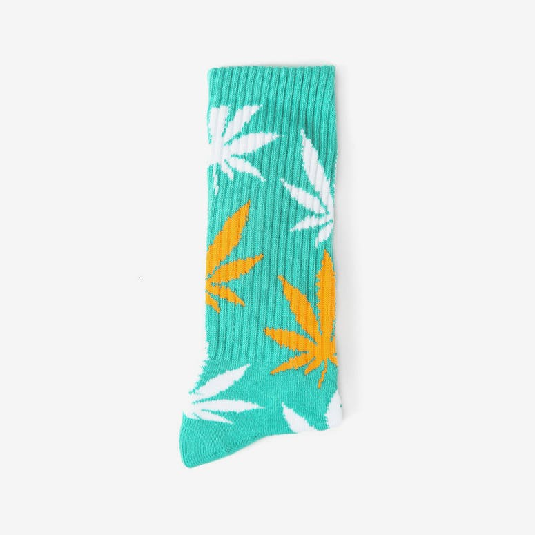 the Plantlife Socks 5 Jade/orange/whi