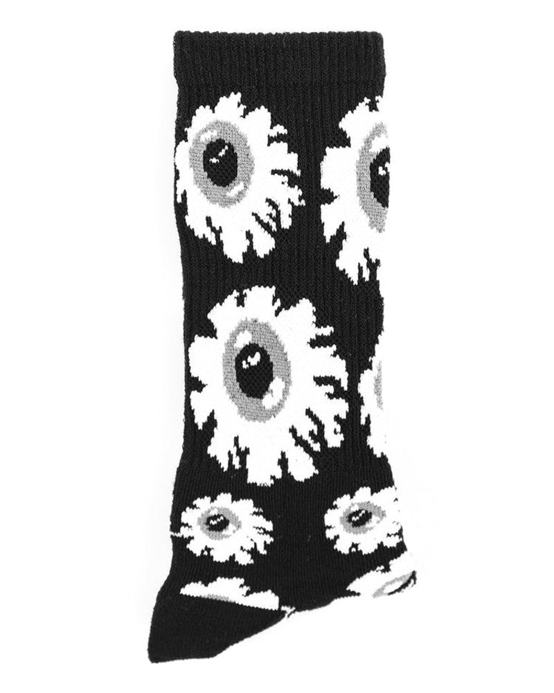 Keep Watch Pattern Socks Black