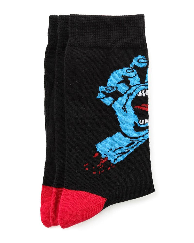 Screaming Socks 3 Pack Black