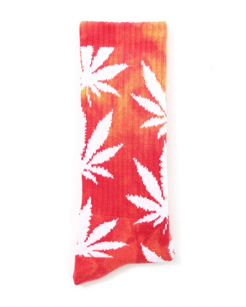 Tie Dye Plantlife Socks Red/yellow