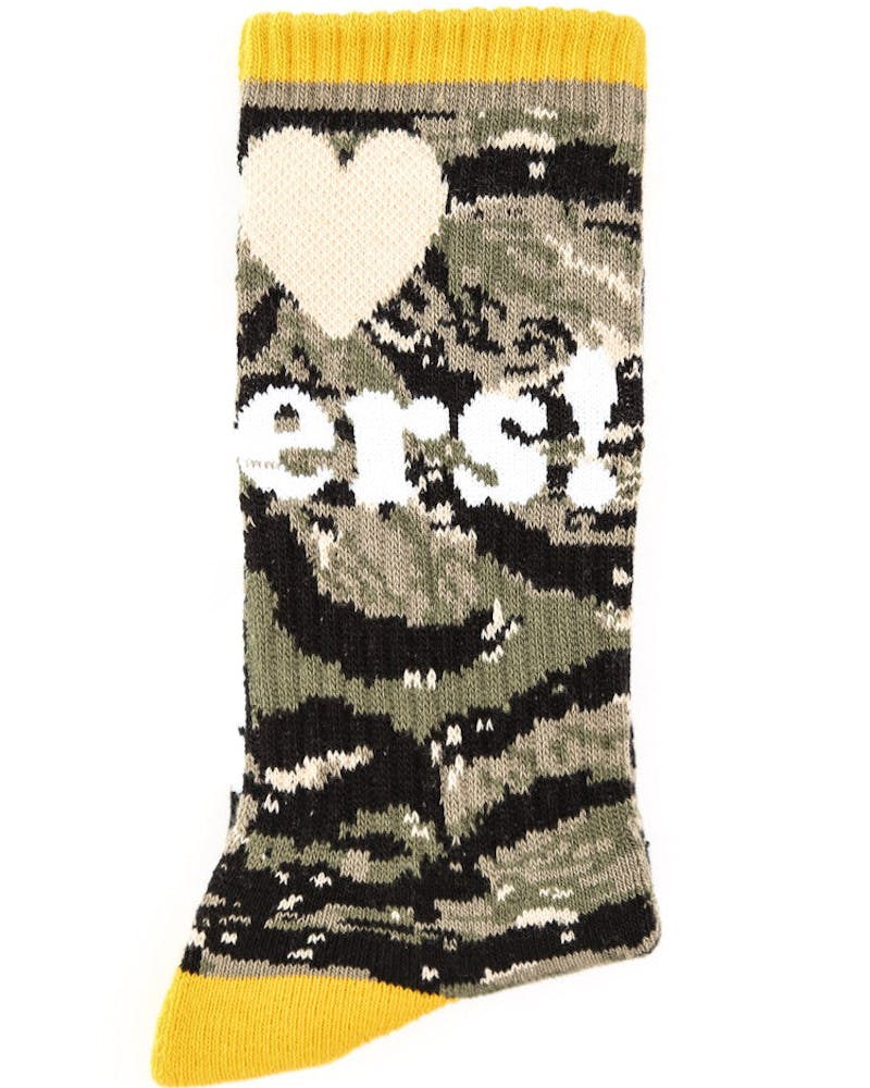 Haters Sock 2 Camo/yellow