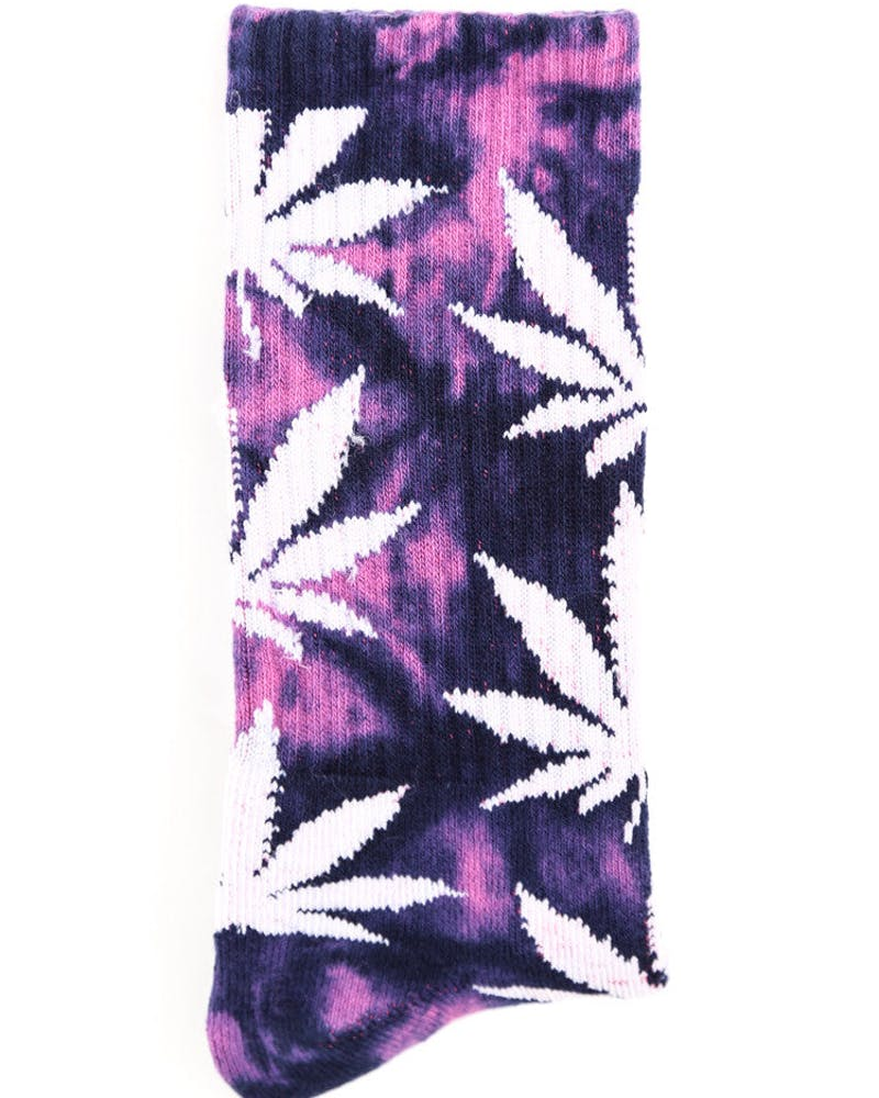 Tie Dye Plantlife Socks Purple/white
