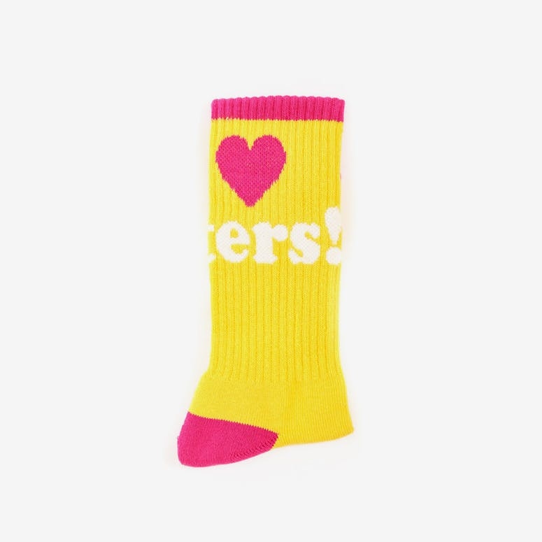 Haters Sock Yellow/pink
