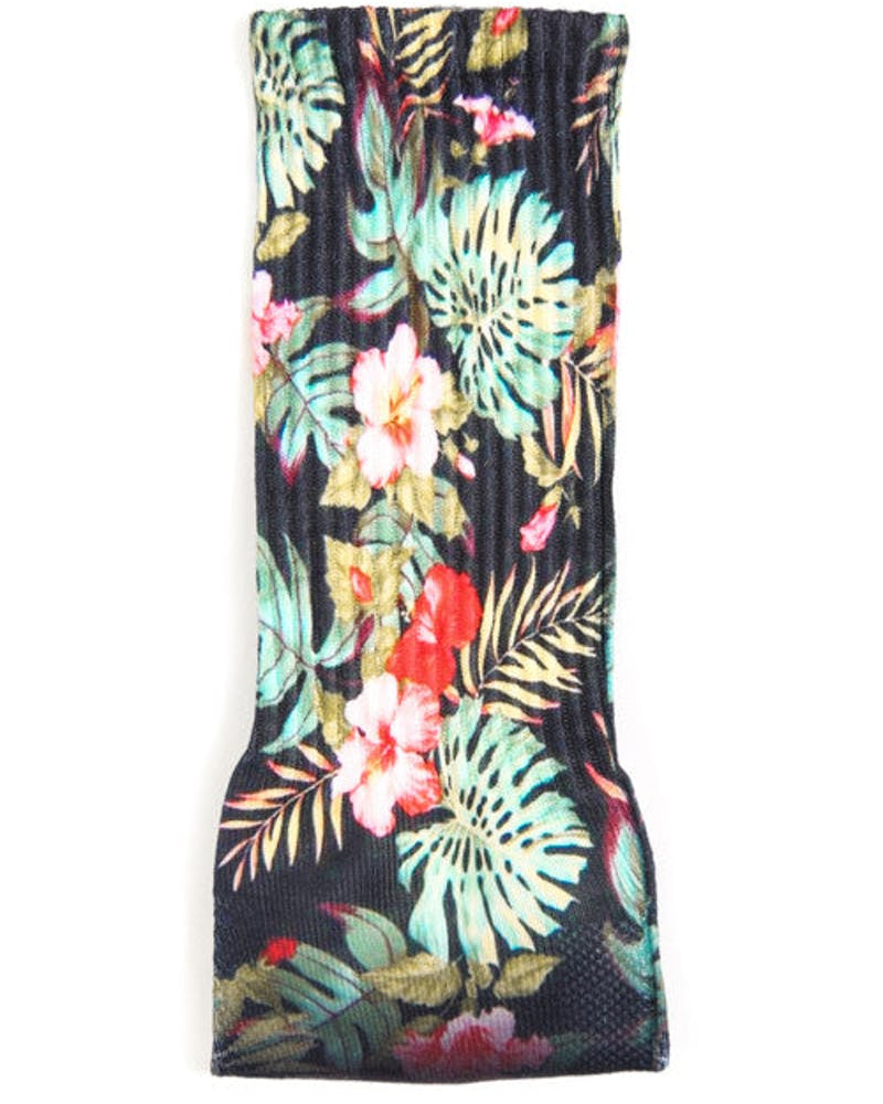 Sublimated Luxury Socks Navy/floral
