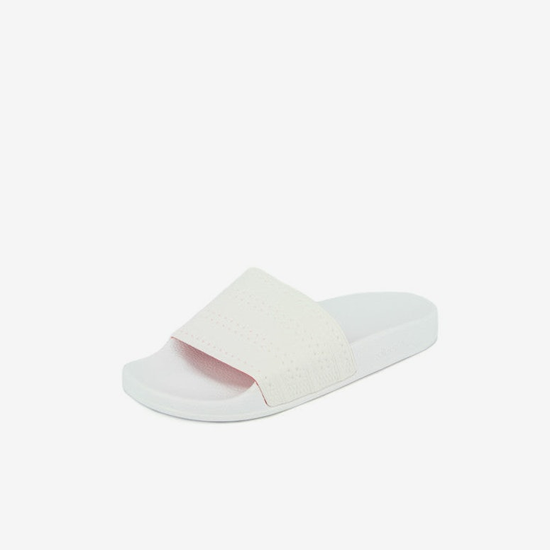 Adilette Slides White/white/red