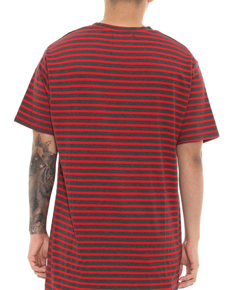 Enfeebled Misfit Tee Charcoal/red