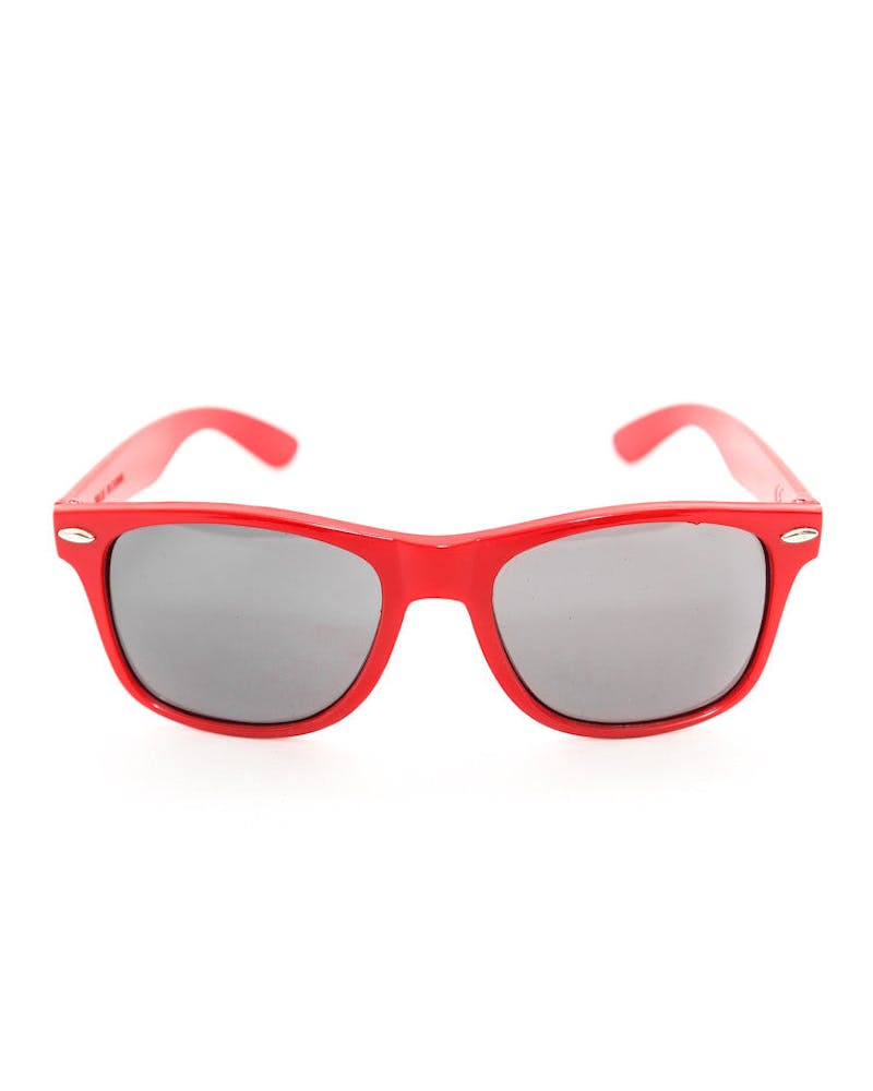 Cyrillic Logo Sunglasses Red
