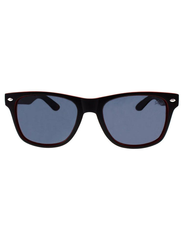 Encore Sunglasses Black/red