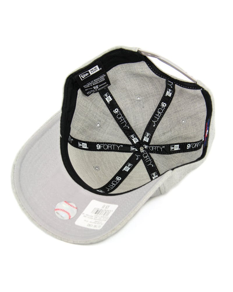 New Era Dodgers 9FORTY Heather Snapback Heather Grey