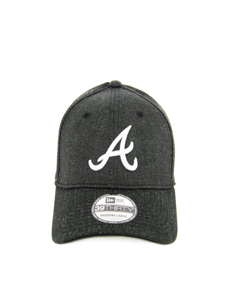 Braves Heather Visor 3930 Fashion Fitted Graphite/black
