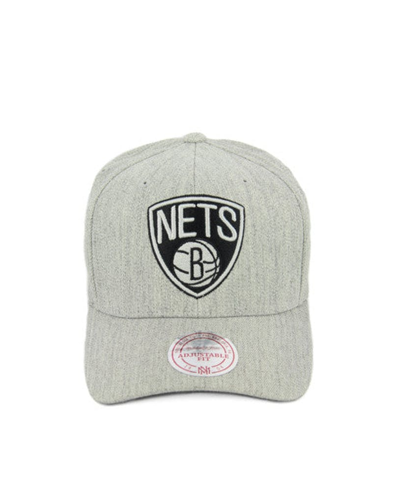 Nets 110 Black Logo Snapback Grey