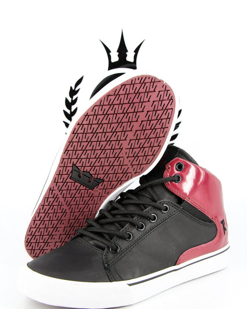 Society Mid Shoe Black/burgundy