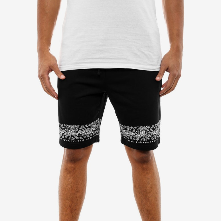 Bandana Sweatshorts Black