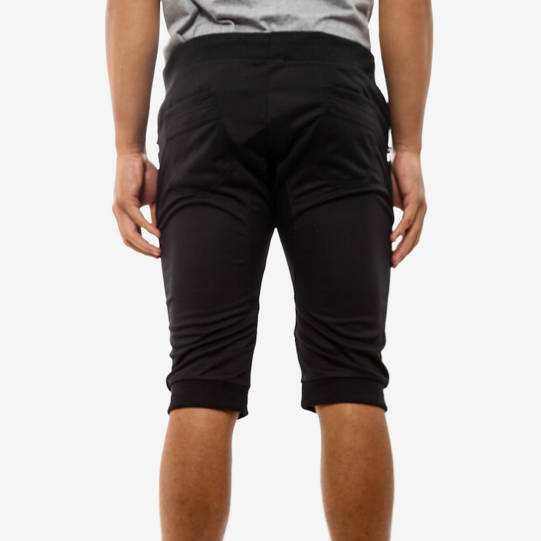 Down Crotch Mesh Short Black