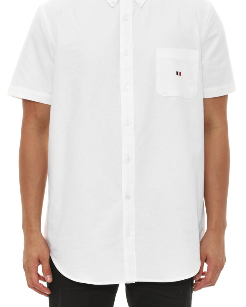 Oxford Button up SS White