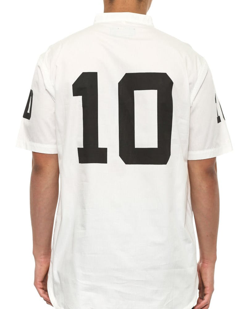 Big 10 Short Sleeve Button-up White